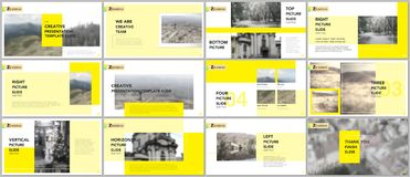 Clean and minimal presentation templates. Brochure cover vector design. Presentation slides for flyer, leaflet, brochure, report vector illustration