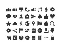 Clean/Minimalist Icons for Apps, Social Media, etc. vector illustration