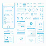 Clean Mobile Web UI Kit Royalty Free Stock Photos