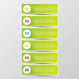 Clean modern green digital Infographic banners. Stock Photo