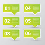 Clean modern green digital Infographic banners. Royalty Free Stock Photo