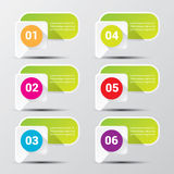 Clean modern green digital Infographic banners. Stock Image