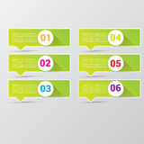 Clean modern green digital Infographic banners. Royalty Free Stock Image