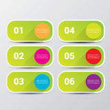 Clean modern green digital Infographic banners. Royalty Free Stock Photos