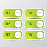 Clean modern green digital Infographic banners. Stock Images