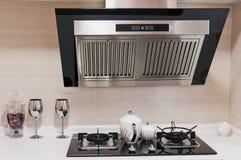 Clean Modern Kitchen. A Clean White Modern Kitchen royalty free stock photography