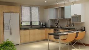 Clean Modern Kitchen Royalty Free Stock Photography
