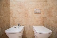 Clean and modern toilet Royalty Free Stock Photography