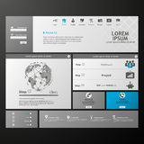Clean Modern Website template Royalty Free Stock Image