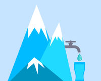 Clean mountain water Royalty Free Stock Images