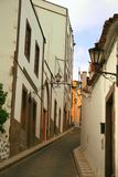 Clean narrow street in Canary Islands Stock Photo