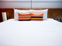 Clean and neat bed Stock Image