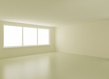 Clean new interior, with clipping path for windows. 3d illustration Stock Photo