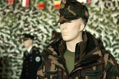 Clean and new military clothing Stock Image