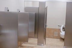 Clean new public toilet room empty Stock Image