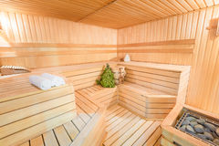 Clean new steam room. With accessories Stock Photography