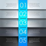 Clean numbered banners for sample text.Vector design template. Stock Photography