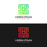 Clean O letter logo icon company vector sign Royalty Free Stock Photography