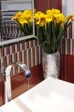 Clean och härlig badrum Arkivbild