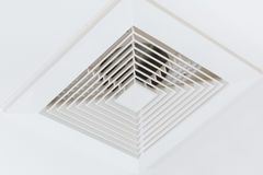 Clean office airduct. Dust out from Air Duct, Danger and the cause of pneumonia in office man Royalty Free Stock Image