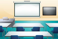 Clean and ogranized classroom royalty free illustration