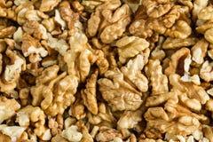 Clean organic raw kernel walnuts. Background stock photos