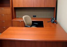 Clean out your desk. An empty, cleaned out office Stock Images