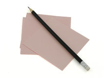Clean paper and pencil Stock Photo