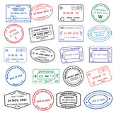 Clean Passport Stamps Royalty Free Stock Photo