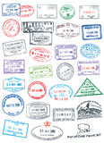 Clean Passport Stamps vector illustration