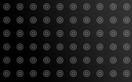 Clean Pattern Artistic Background Black. Clean background for every presentation or pattern, high resolution, perfect detail work Stock Photo