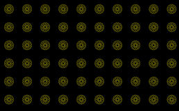 Clean Pattern Artistic Background Black Yellow Royalty Free Stock Image