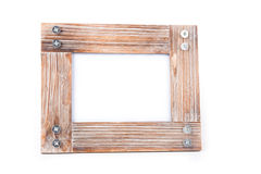 Clean photoframe. In white background Stock Image