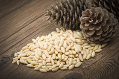 Clean pine nuts Stock Photos