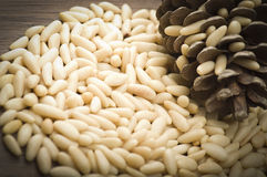 Clean pine nuts Stock Photo