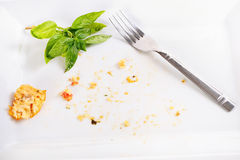 Almost clean plate Stock Photography