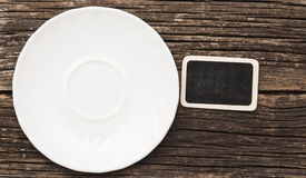 Clean plate with napkin Royalty Free Stock Photos