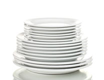 Clean plates Royalty Free Stock Photos