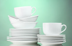 Clean plates, cups Stock Images