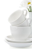 Clean plates and cups Stock Photo