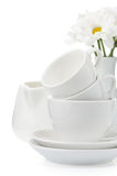 Clean plates and cups Royalty Free Stock Photos