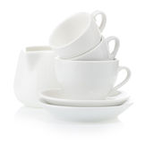 Clean plates and cups Royalty Free Stock Photography