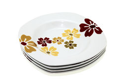 Clean plates pile Stock Images