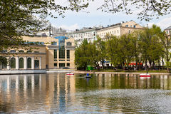 Clean Ponds in Moscow in sunny day Stock Photography