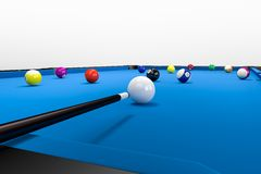 Clean Pool Billard Table Stock Images