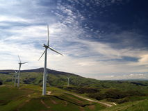 Clean Power. Wind turbines generating clean energy Royalty Free Stock Photo