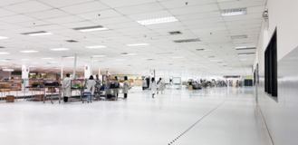 Clean production room. Manufacture of industrial electronics. Surface-mounted circuit board assembly. Clean production room. Manufacture of industrial stock images