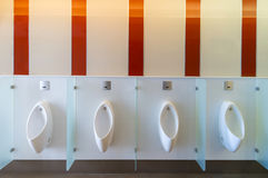 Clean public men toilet room Royalty Free Stock Photo