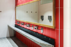 Clean public washrooms interior Royalty Free Stock Images