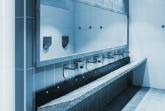 Clean public washrooms interior Royalty Free Stock Photos